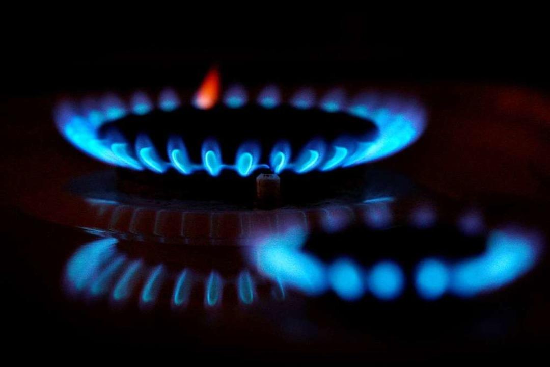 Die Gasflamme eines Gasherdes  | Foto: Karl-Josef Hildenbrand