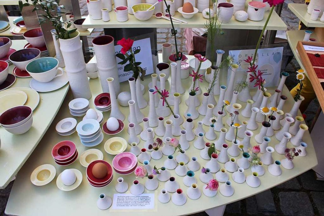 Der Keramikmarkt wird im September  wi...er Ständen und in gebührendem Abstand.  | Foto: Victoria Langelott