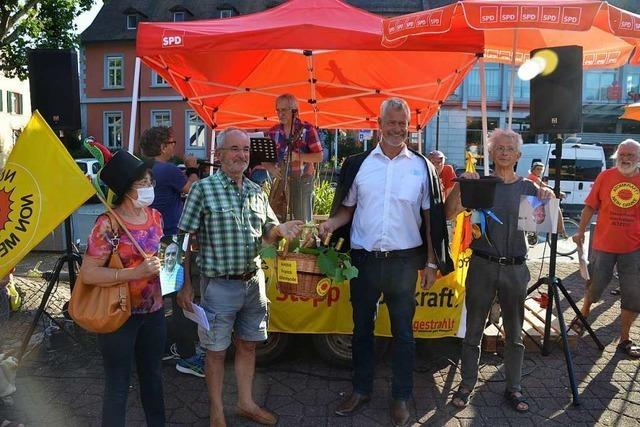 Protestfest in Breisach gegen geplantes Technocentre in Fessenheim