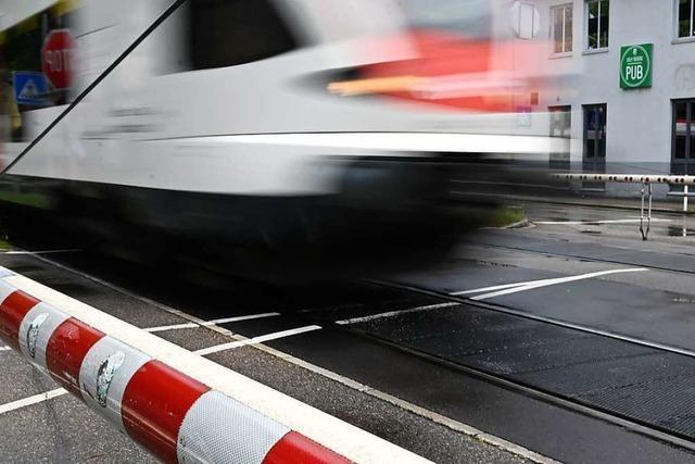 73-jähriger Radler wird bei Unfall mit S-Bahn in Steinen nur leicht verletzt