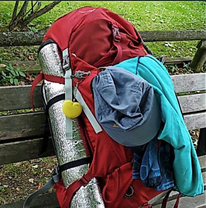 Der Rucksack der Vermissten.  | Foto: Polizei