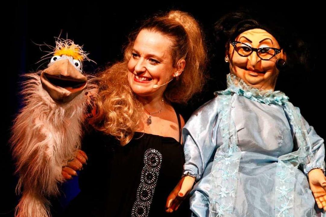 Sabine Murza mit Dudu und Adelheid  | Foto: Heidi Fößel