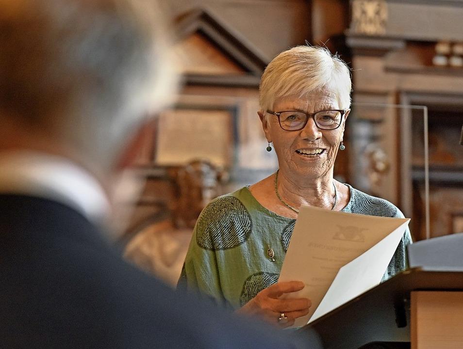 Renate Landwehr erhielt die Ehrennadel des Landes.   | Foto: Michael Bamberger