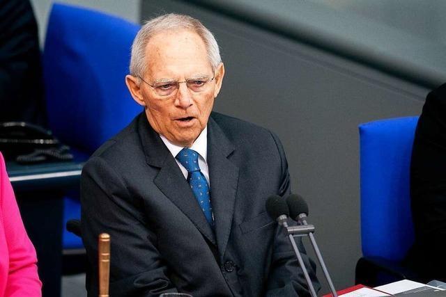 Wolfgang Schäuble tritt bei der Bundestagswahl 2021 im Wahlkreis Offenburg erneut an