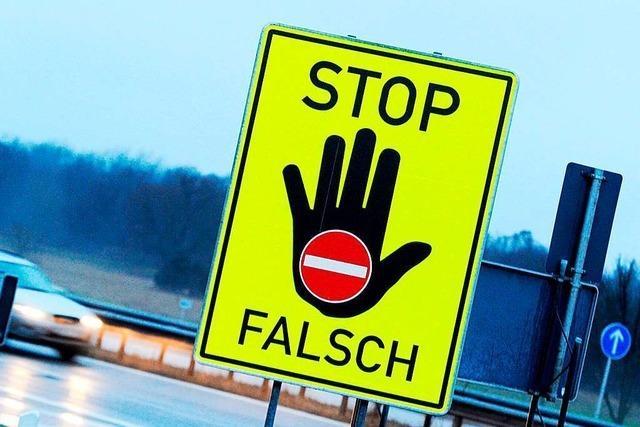 Polizei stellt betrunkenen Geisterfahrer auf der Autobahn bei Freiburg
