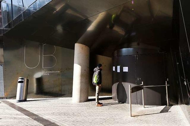 Unibibliothek in Freiburg bleibt am Donnerstag geschlossen