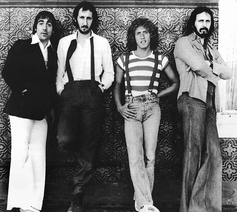 In frühen Jahren: Keith Moon (v. l.), ...o. 1967 spielte die Band in Offenburg.  | Foto:  (dpa)