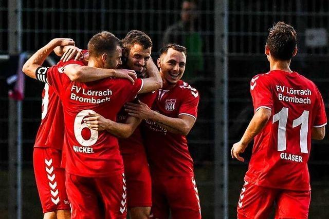 FV Lörrach-Brombach feiert ersten Oberliga-Sieg – 4:1 gegen Walldorf