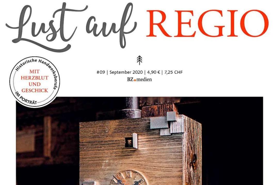 """So macht die Septemberausgabe von """"Lust auf REGIO"""" auf.    Foto: Lust auf Regio"""