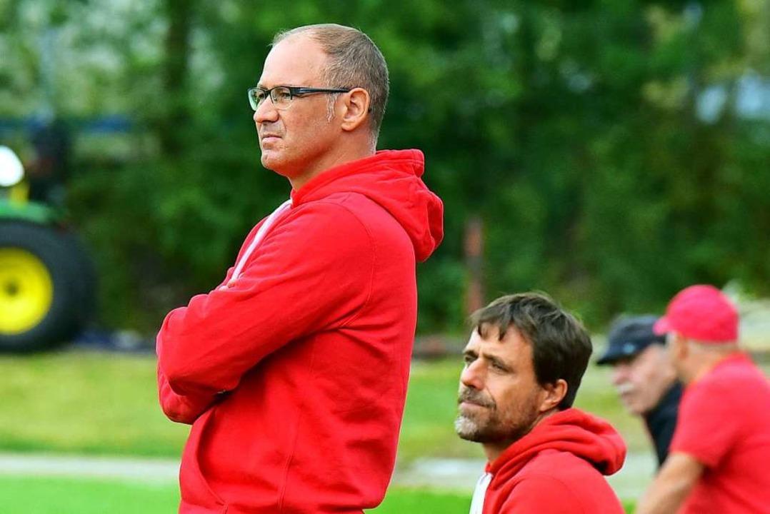 Stefan Schwär (l.) und Björn Kuschel, das Trainerduo des FSV RW Stegen  | Foto: Daniel Thoma