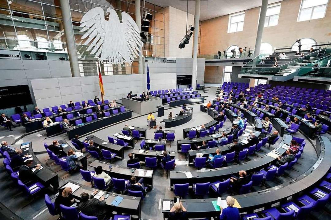 Der Deutsche Bundestag in Berlin    Foto: Michael Kappeler (dpa)