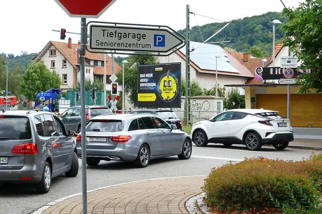 Das Thema Verkehr in Steinen war omnip...ergängen zur städtebaulichen Sanierung    Foto: Martina David-Wenk
