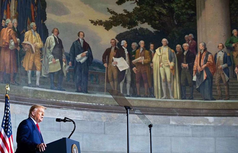 Donald Trump im National Archives Museum.    Foto: SAUL LOEB (AFP)