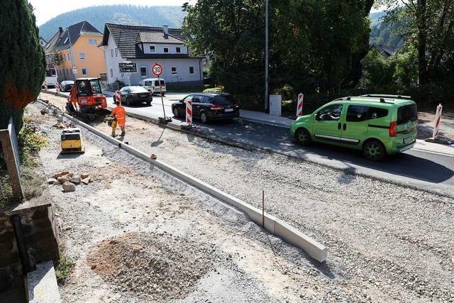 Die Sanierung der Ortsdurchfahrt Reichenbach dauert noch bis Jahresende