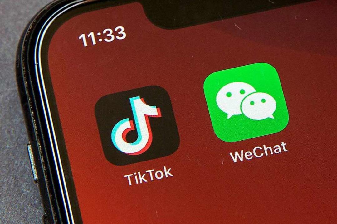 Die Video-App Tiktok und der Messenger... USA nicht mehr geladen werden können.    Foto: Mark Schiefelbein (dpa)