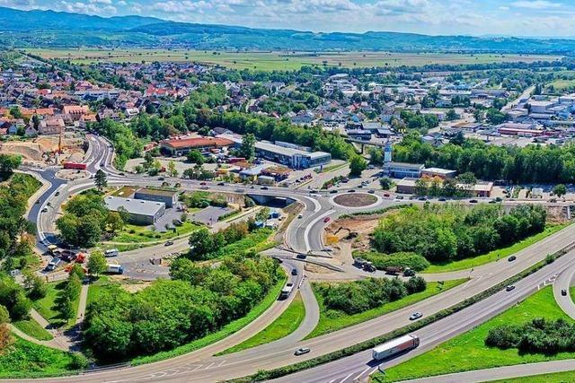 Die Kreisel an der A5-Anschlussstelle Müllheim-Neuenburg sind geöffnet