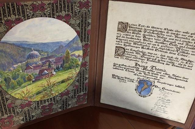 Thoma-Ehrenbürgerbrief neu entdeckt
