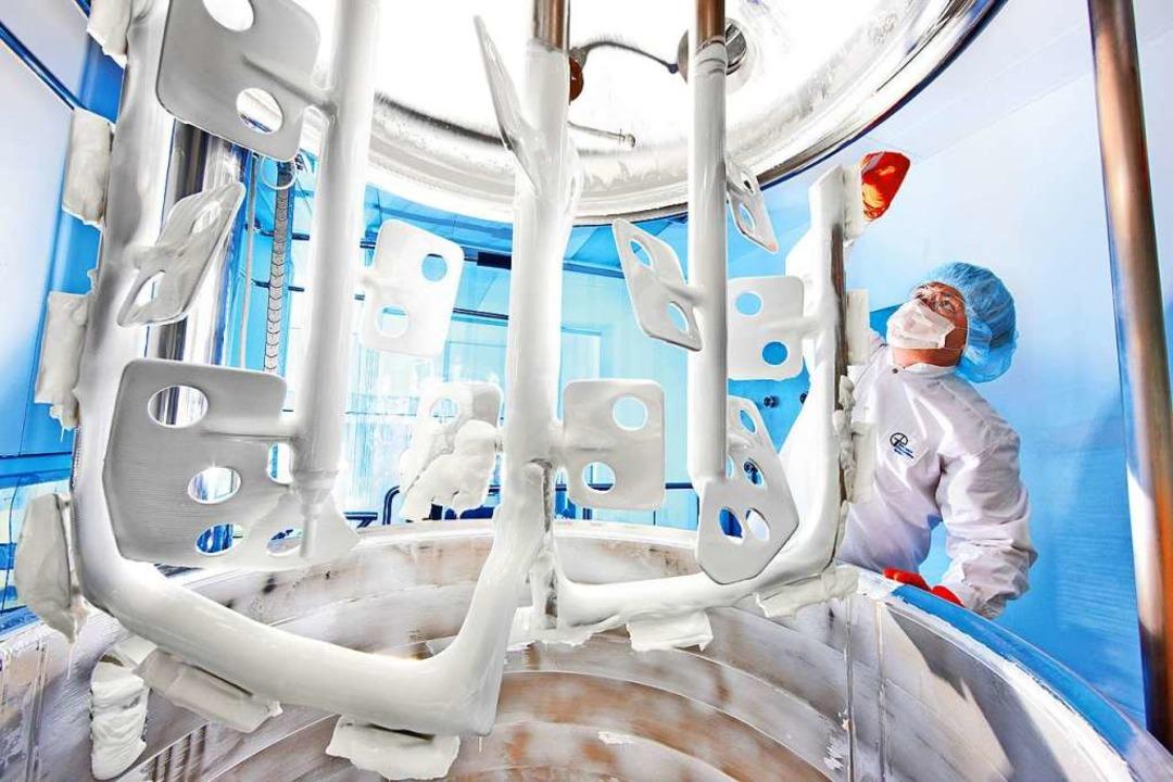 Die Chemie- und Pharmaindustrie (im Bi...orona-Krise nicht so stark betroffen.   | Foto: Bayer
