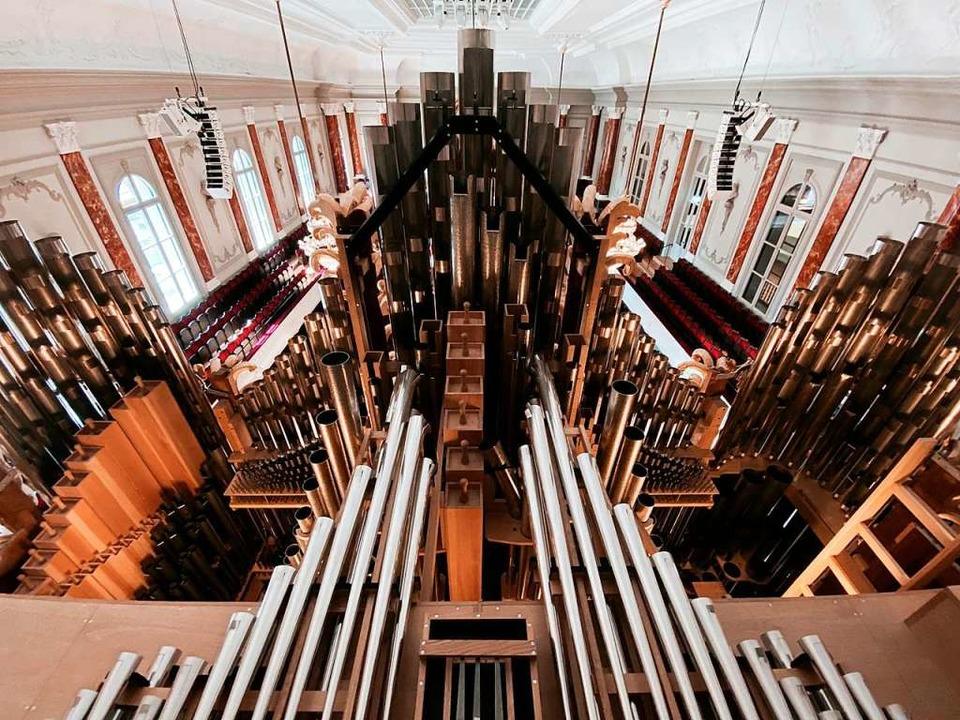 Sinfonisch und mit Charme: die Metzler/Klahre-Orgel im Stadtcasino Basel  | Foto: Michael Klahre