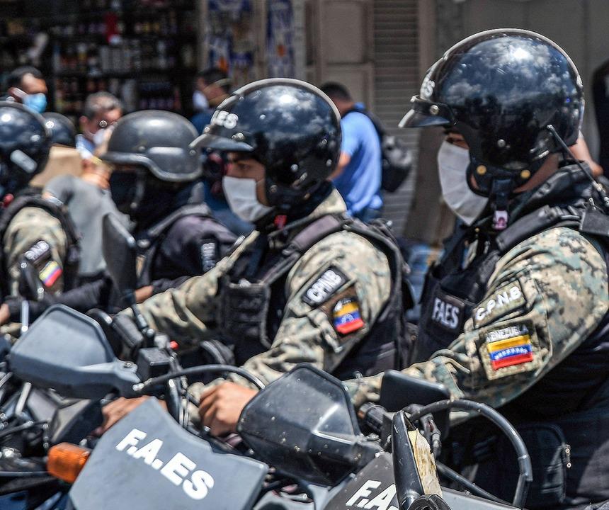 Mitglieder der venezolanischen Einheit FAES  | Foto: Roman Camacho (www.imago-images.de)
