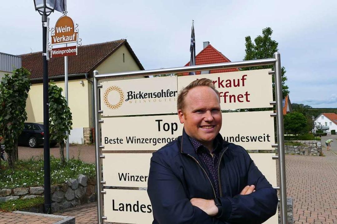 Patrick Chelaifa freut sich auf seine ...gabe bei der Bickensohler Weinvogtei.   | Foto: Gerold Zink