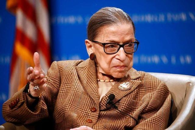 Trauer um die legendäre US-Richterin Ruth Bader Ginsburg
