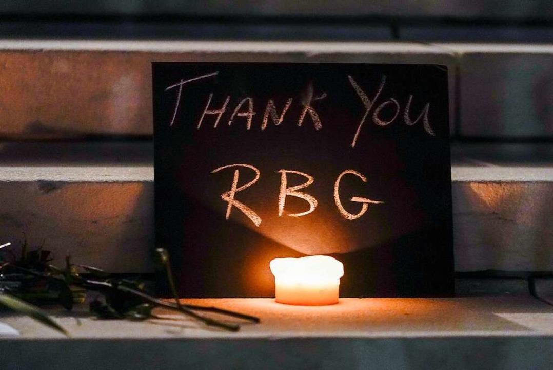 Trauer um Ruth Bader Ginsburg  | Foto: Alex Brandon (dpa)