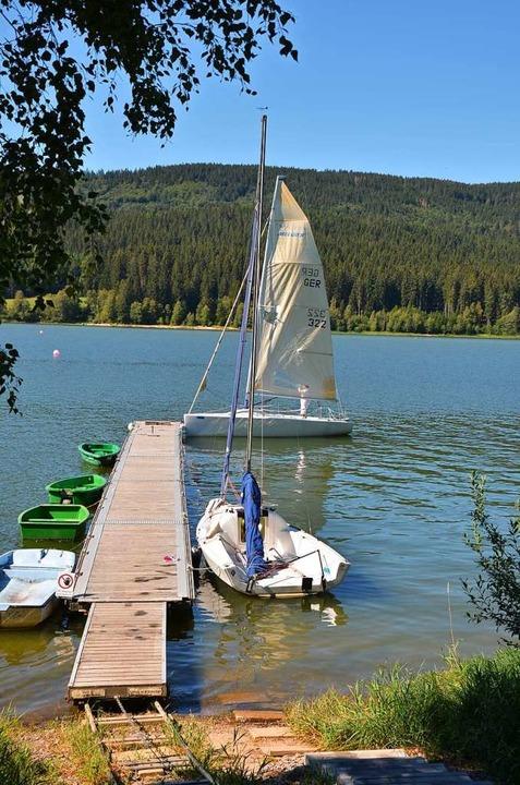 Gleich geht's los: Bootssteg in Schluchsee-Aha  | Foto: Ulrike Ott