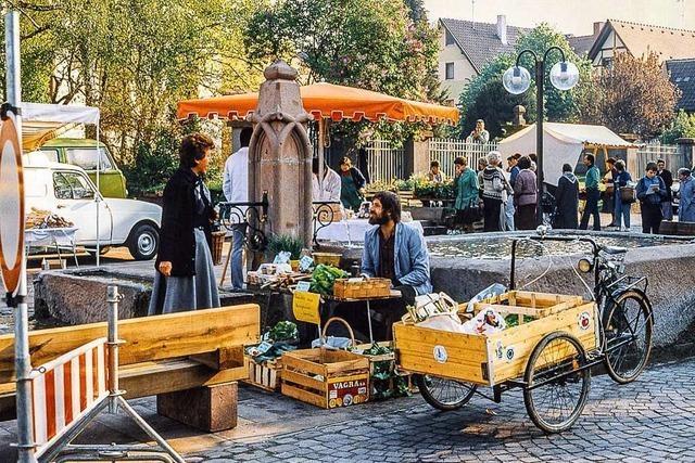 Wie aus dem Stockbrunnenmarkt der Bauernmarkt in Friesenheim wurde