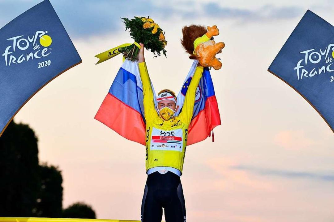 Tour-Sieger Tadej Pogacar  | Foto: David Stockman (dpa)
