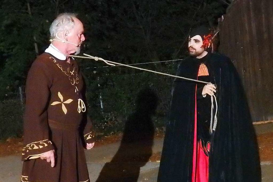 Faust (Andy Müller, links) und Mephisto (Georg Hermann)  | Foto: Bianca Flier