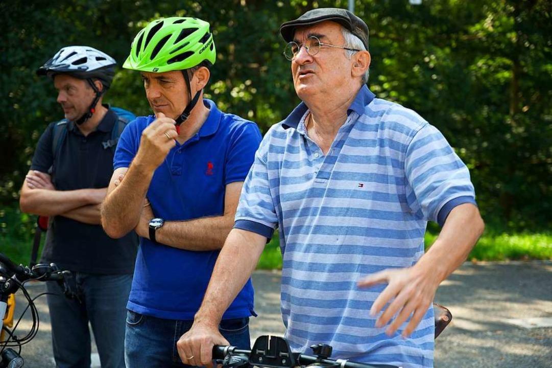 Der OB und Gerd Wernthaler von der IG Velo (rechts)  | Foto: Ansgar Taschinski