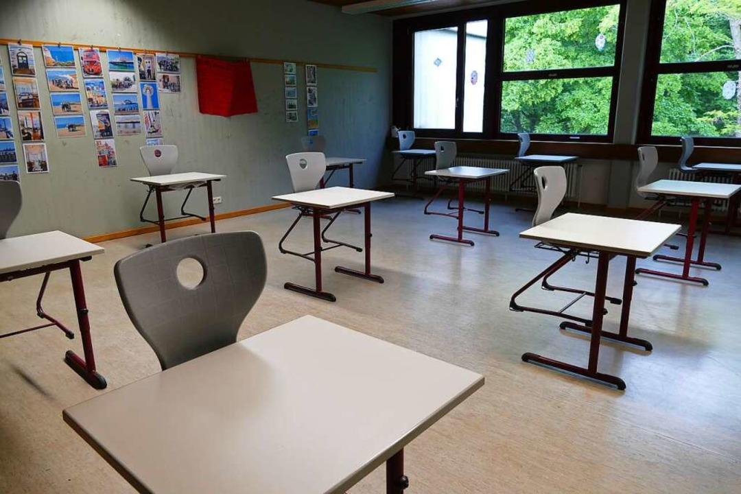 Leeres Klassenzimmer im Schulzentrum Efringen-Kirchen    Foto: Victoria Langelott