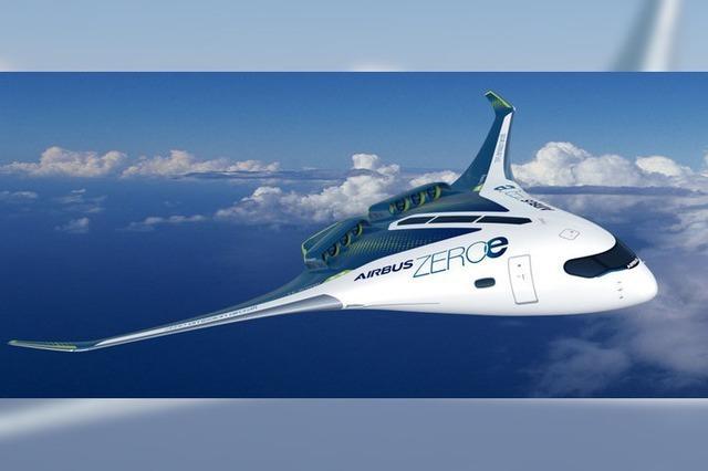 Airbus plant Flugzeug mit Wasserstoffantrieb