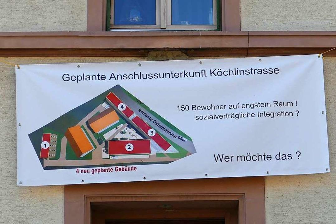 Protest regt sich gegen den Gemeindera...ingung in der Steinener Köchlinstraße.  | Foto: Martina David-Wenk
