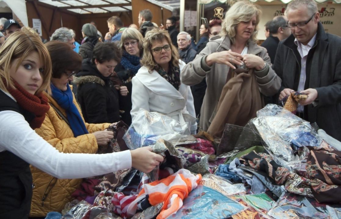 Stets herrscht beim Katharinenmarkt Ge... ist die Veranstaltung daher abgesagt.  | Foto: Gemeinde
