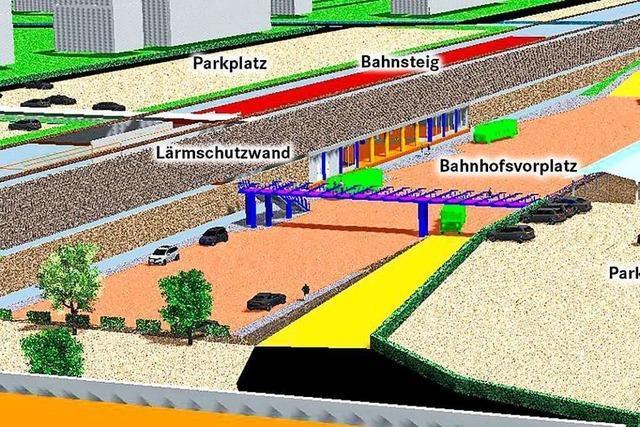 So könnte der Müllheimer Bahnhof tiefergelegt werden