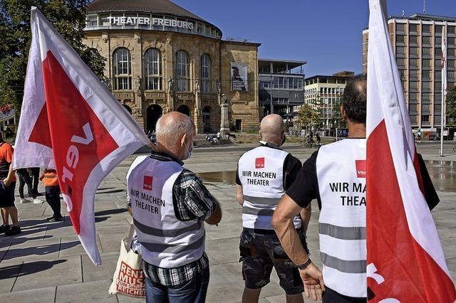 Verdi-Kundgebung in Freiburg