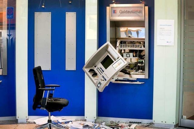 Unbekannte sprengen Geldautomaten in Pfaffenweiler