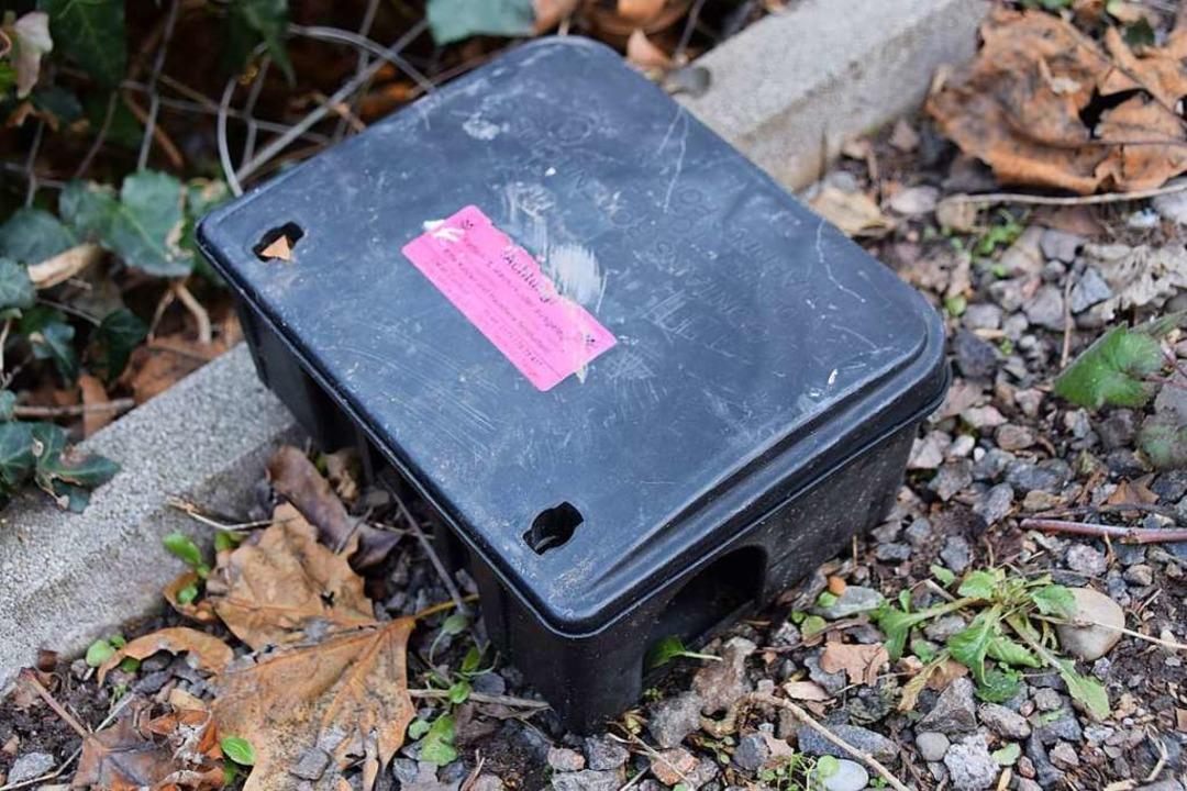 Köderboxen mit Gift – wie dieses... durch moderne Systeme ersetzt werden.  | Foto: Stefan Ammann