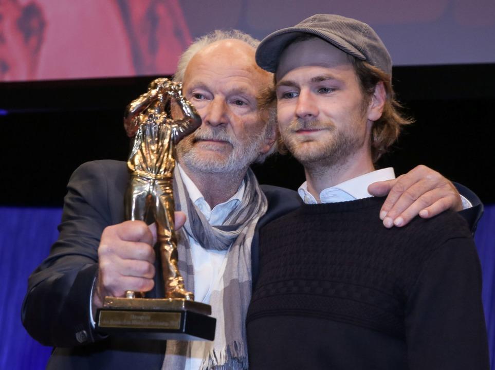 Michael Gwisdek bei der Verleihung des...rer Krankheit mit 78 Jahren gestorben.    Foto: Frank Rumpenhorst (dpa)
