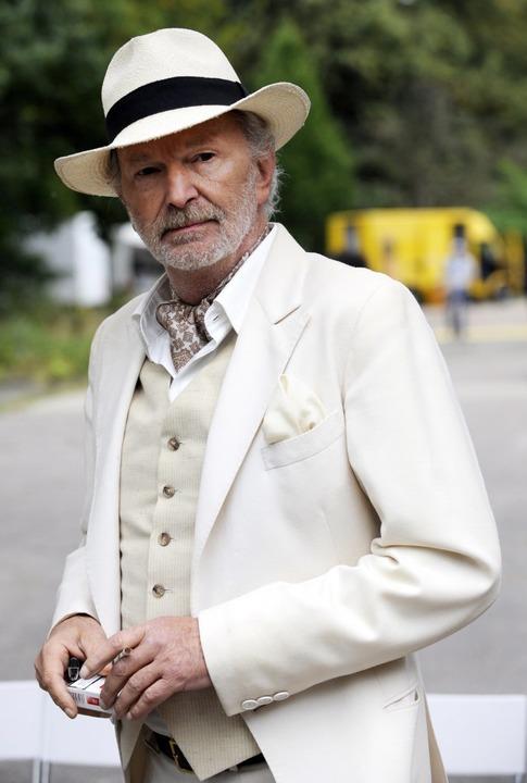 "Michael Gwisdek 2009 bei den Dreharbeiten zum Film ""Vater Morgana"".    Foto: Maurizio Gambarini (dpa)"