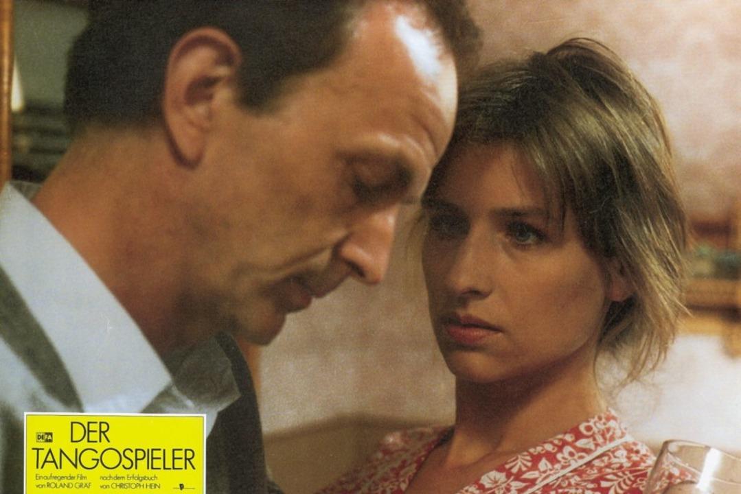 Gwisdek mit seiner damaligen Ehefrau C...ach Christoph Hein aus dem Jahre 1989.    Foto: MDR