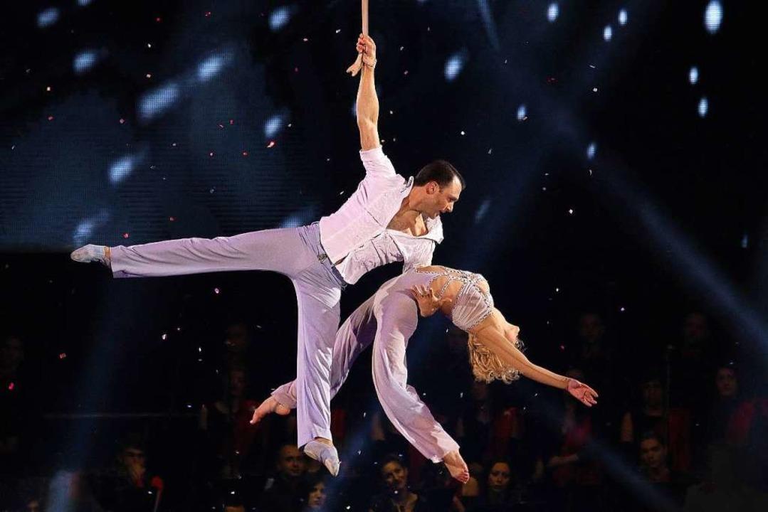 Dmitriy Grygorov und Anastasiia Vashen...20 mit ihrer romantischen Performance.  | Foto: Europa-Park