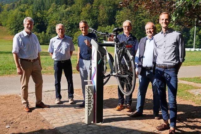 An der Hammerschmiede in Reichenbach gibt es jetzt eine Radservice-Station