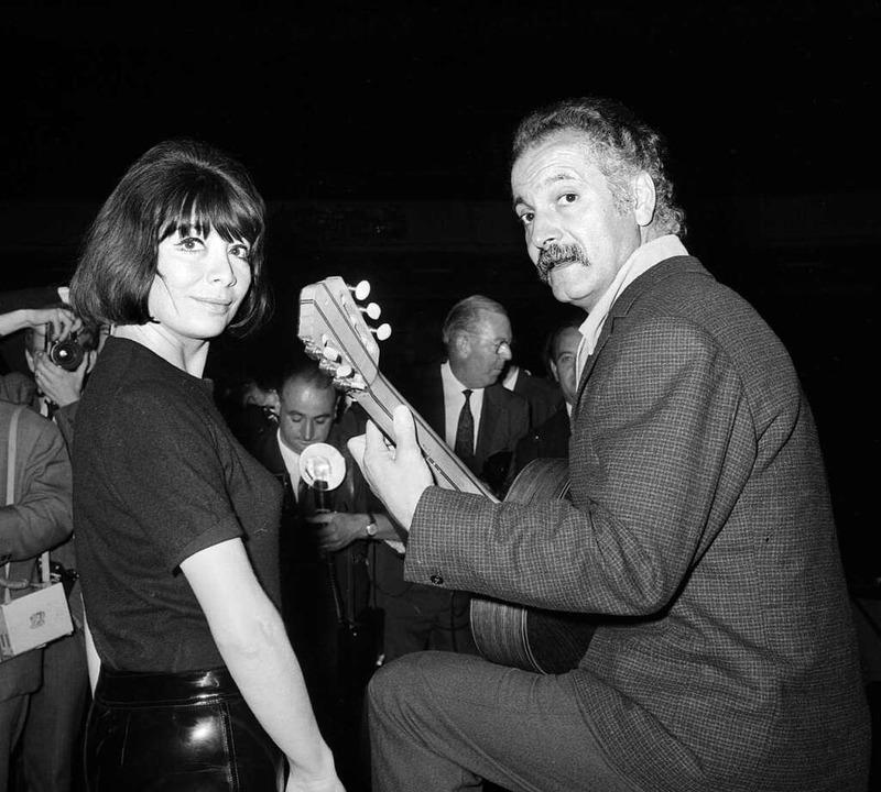 Juliette Gréco und Georges Brassens im September 1966  | Foto: STAFF (AFP)