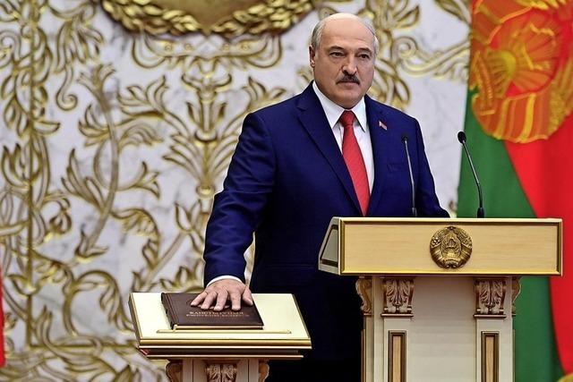 Lukaschenko erneut als Präsident vereidigt