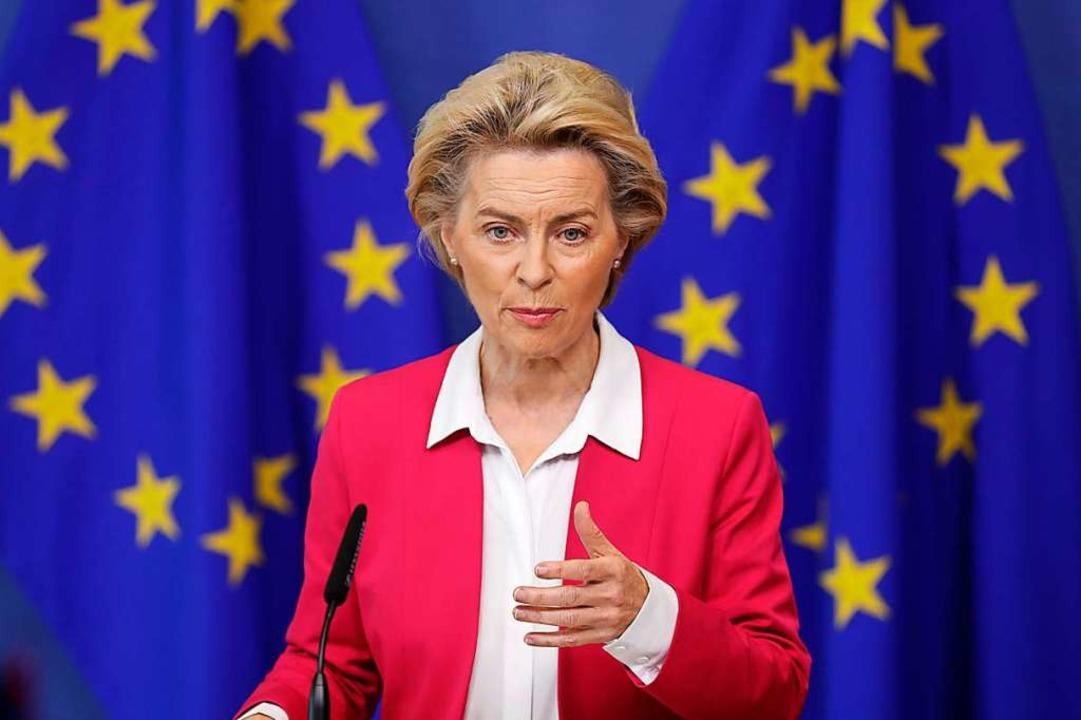 Will endlich Bewegung in die festgefah...Kommissionschefin Ursula von der Leyen    Foto: Stephanie Lecocq (dpa)