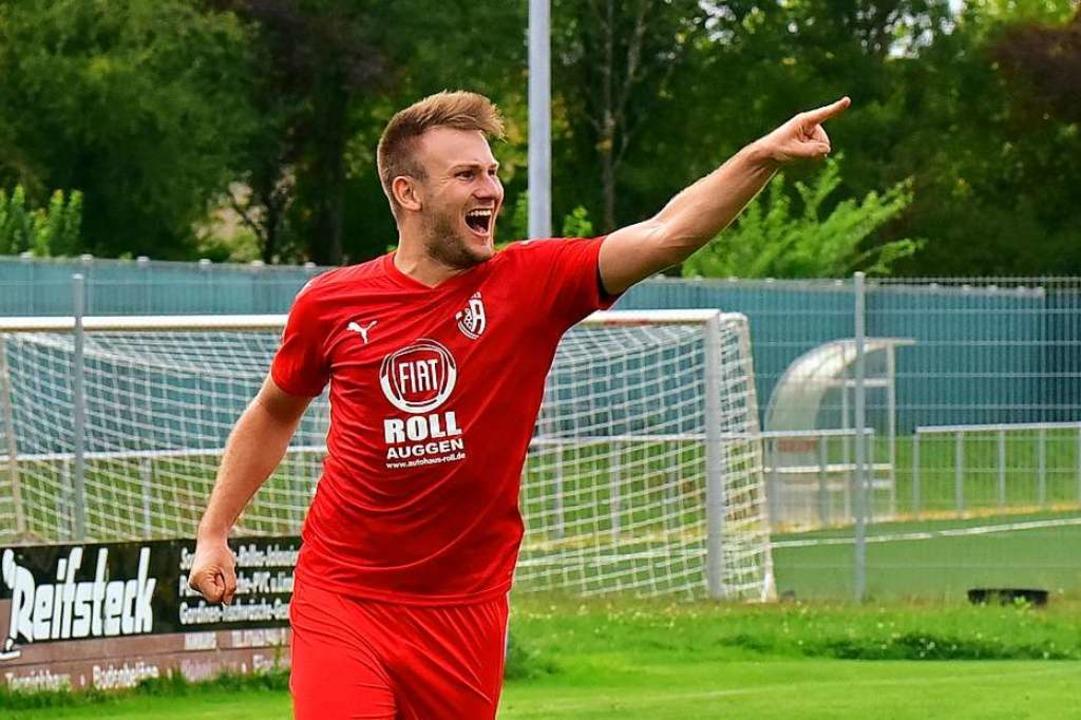 Nils Mayer hat großen Anteil am guten Saisonstart des FC Auggen.  | Foto: Daniel Thoma