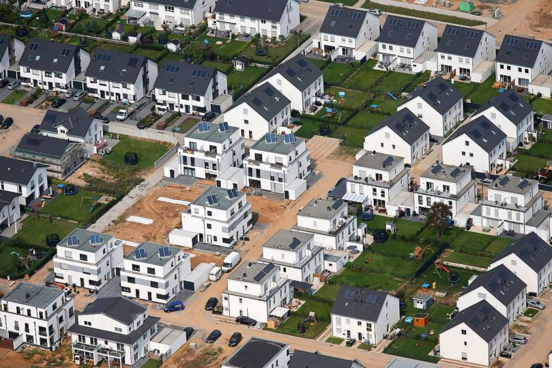 Quadratisch, praktisch, gut? Blick auf ein Neubauviertel  | Foto: Oliver Berg